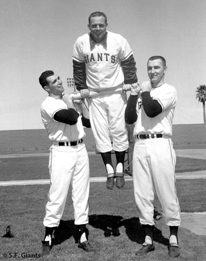 sf giants, san francisco giants, photo, view level timeline, hobie landrith, tom haller, john Orsino