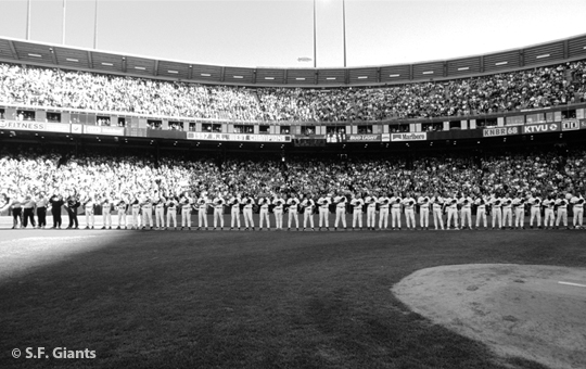 sf giants, san francisco giants, photo, 2012, timeline, view level, 1997 lineup