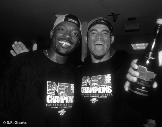 sf giants, san francisco giants, 2012, photo, view level timeline, reggie sanders, pedro feliz2002 nlcs