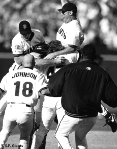 sf giants, san francisco giants, photo, 2012, timeline, 1997, view level, jt snow, biran johnson, bill meuller