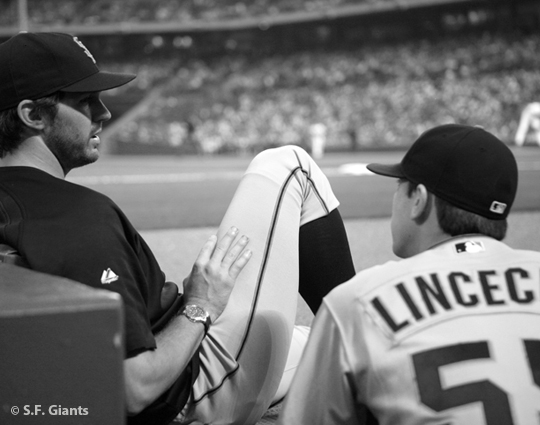sf giants, san francisco giants, 2012, photo, view level timeline, barry zito, tim lincecum