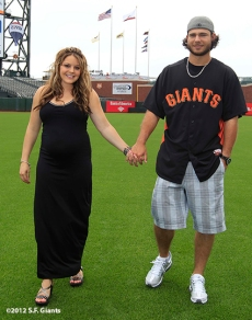 sf giants, san francisco giants, photo, 2012, family day, brandon cawford