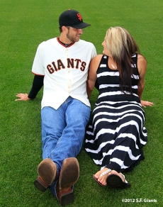 sf giants, san francisco giants, photo, 2012, family day, madison bumgarner