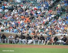 sf giants, san francisco giants, photo, 2012, wrigley field, bullpen