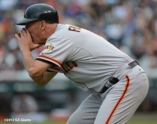 sf giants, san francisco giants, photo, 2012, wrigley field, tim flannery
