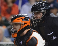 sf giants, san francisco giants, photo, 2012, umpire, buster posey