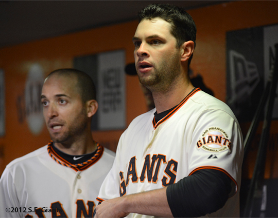 sf giants, san francisco giants, photo, 2012, marco scutaro, brandon belt