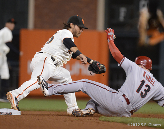 sf giants, san francisco giants, photo, 2012, brandon belt, jason kubel
