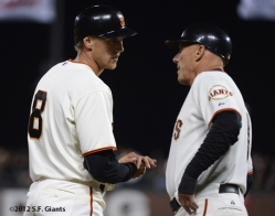 sf giants, san francisco giants, photo, 2012, tim flannery hutner pence