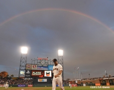 sf giants, san francisco giants, photo, 2012, madison bumgarner, rainbow