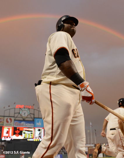 sf giants, san francisco giants, photo, 2012, pablo sandobal, rainbow