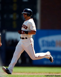 marco scutaro, sf giants, san francisco giants, photo, 2012