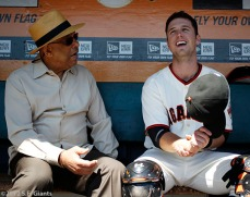 Orlando Cepeda and Buster Posey