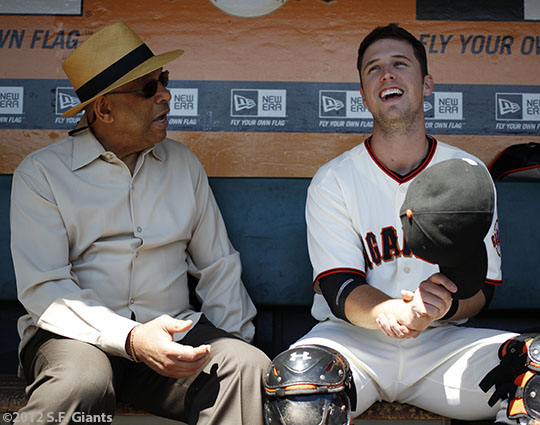 San Francisco Giants, S.F. Giants, photo, 2012, Orlando Cepeda, Buster Posey