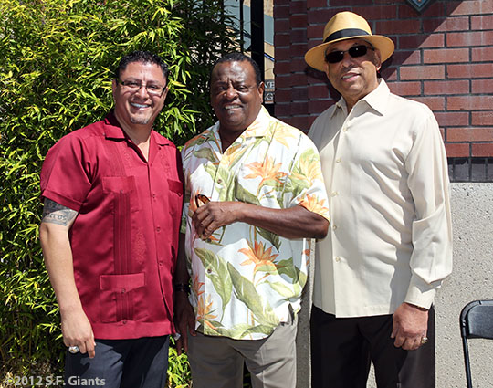 San Francisco Giants, S.F. Giants, photo, 2012, Erwin Higueros, Tito Fuentes, Orlando Cepeda