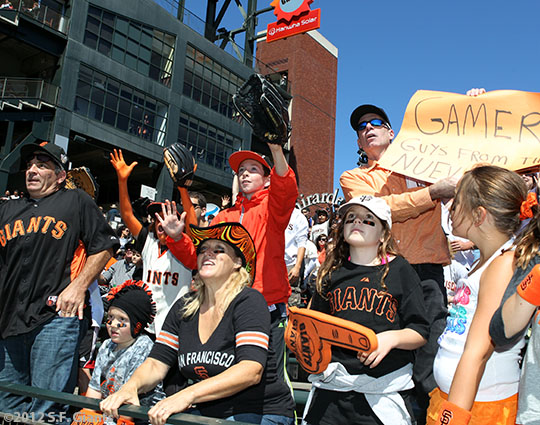 sf gaints, san francisco giants, photo, 2012, fans