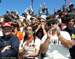 sf giantsm san francisao giants, photo, 2012, fans