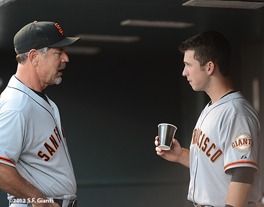 sf giants, san francisco, photo, 2012, bruce bochy, buster posey