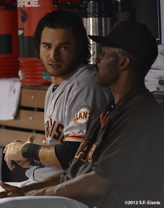 sf giants, san franciso giantsm photo, 2012, brandon crawford, shawon dunston