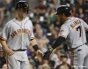 sf giants, san francisco giants, 2012, photo, buster posey, gregor blanco