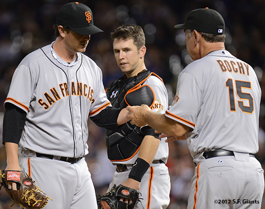 sf giants, san franciso giantsm photo, 2012, dan runzler, buster posey, bruce bochy