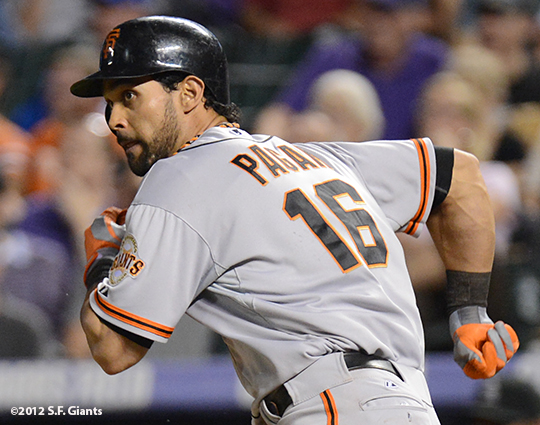 sf giants, angel pagansan francisco, photo, 2012,