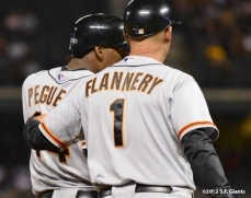 sf giants, san franciso giantsm photo, 2012, francisco peguero, tim flannery