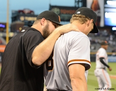sf giants, san francisco giants, photo, 2012, hunter pence, brad penny