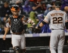 sf giants, san francisco giants, photo, 2012, eli whiteside, buster posey