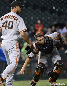 sf giants, san francisco giants, photo, 2012, madison bumgarner, buster posey