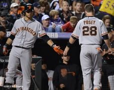 sf giants, san francisco giants, photo, 2012, brandon crawford, buster posey