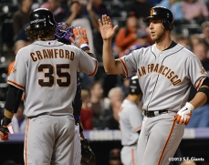 sf giants, san francisco giants, photo, 2012, brandon crawford, madison bumgarner