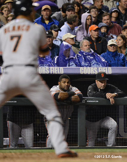 sf giants, san francisco giants, photo, 2012, pablo sandoval, joe lefebvre