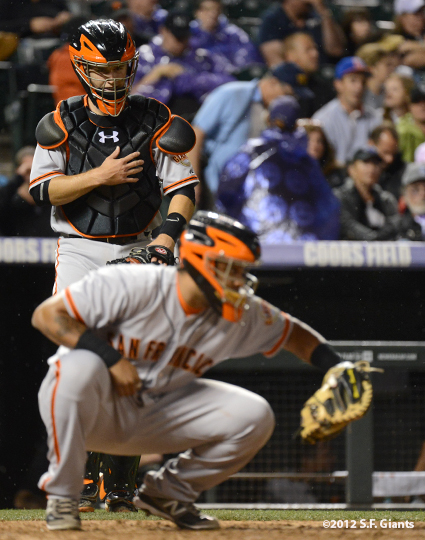 sf giants, san francisco giants, photo, 2012, buster posey, hector sanchez
