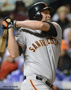 aubrey huff, sf giants, san francisco giants, 2012, photo,