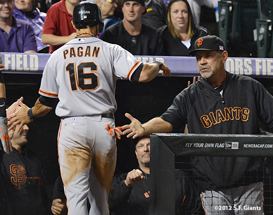 sf giants, san francisco giants, 2012, photo, angel pagan, burce bochy