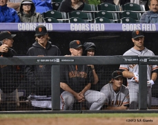 Ron Wotus, Barry Zito, Aubrey Huff, Tim Lincecum, Ryan Theriot & Xavier Nady