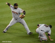 sf giants, san francisco giants, photo, 2012, pablo sandoval, matt cain