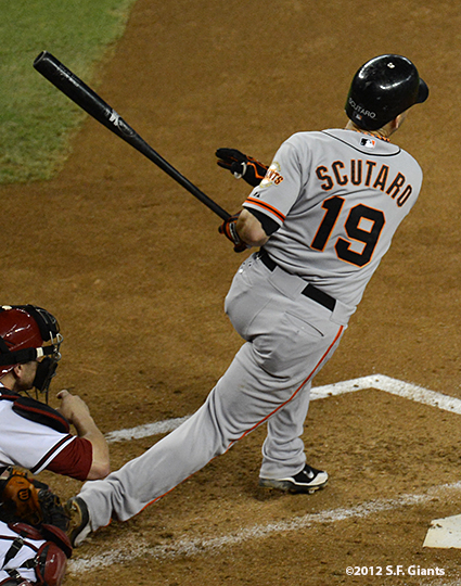 sf giants, san francisco giants, photo, 2012, September 14, chase field, grand slam, hunter pence, marco scutaro
