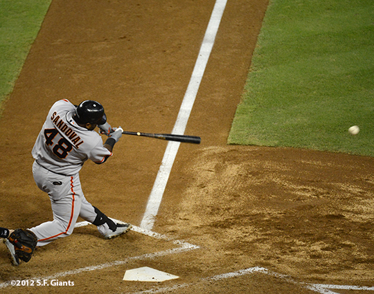 sf giants, san francisco giants, photo, 2012, September 14, chase field, grand slam, hunter pence, pablo sandoval