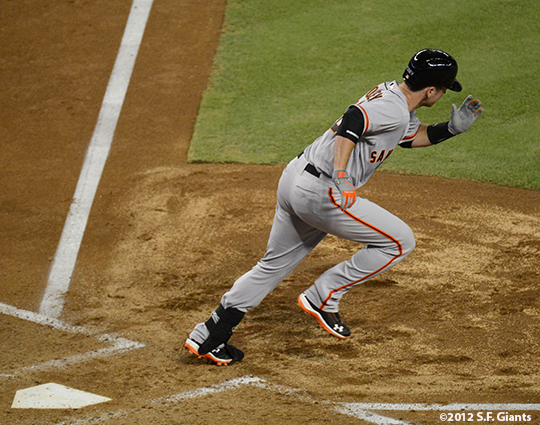 sf giants, san francisco giants, photo, 2012, September 14, chase field, grand slam, hunter pence, buster posey