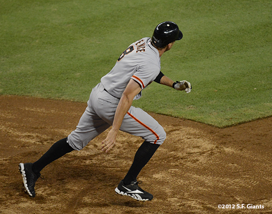 sf giants, san francisco giants, photo, 2012, September 14, chase field, grand slam, hunter pence,