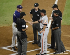 sf giants, san francisco giants, photo, 2012, matt williams, ron wotus