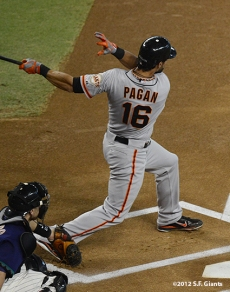 sf giants, san francisco giants, september 15, 2012, photo, angel pagan, triples leader SF-era