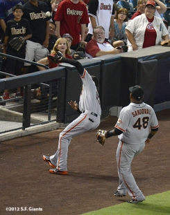 sf giants, san francisco giants, photo, 2012, spetember 15, joaquin arias, pablo sandoval