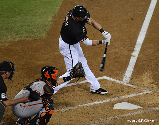 sf giants, san francisco giants, photo, 2012, september 16, cody ransom, buster posey