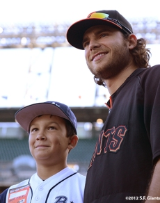 Brandon Crawford & PONY League WS Champs