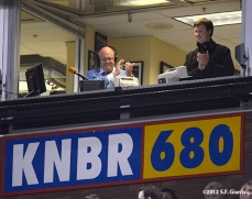 sf giants, san francisco giants, photo, september 17, 2012, knbr, jon miller, dave flemming