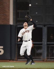 sf giants, san francisco giants, photo, september 17, 2012, hunter pence