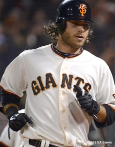 sf giants, san francisco giants, photo, september 17, 2012, brandon crawford
